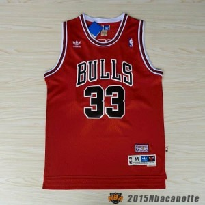 Maglie Retro Basket NBA Chicago Bulls Scottie Pippen  33 rosso ... cf9665c9f4a8